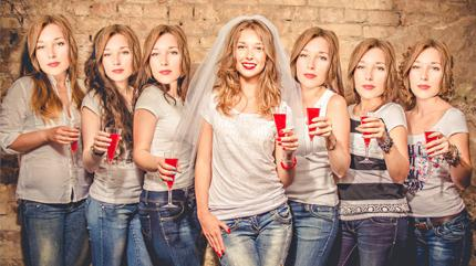 Fotomasken mit Foto der Braut