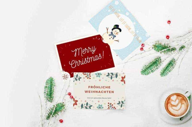Gratis Weihnachtskarten PDF